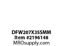 PTI DFW207X35SMM 3-BOLT FLANGE BEARING-35MM DFW 200 GOLD SERIES - NORMAL DUTY -