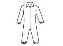 West Chester C3852/L Protective Clothing Posi-Wear - White 45g SMS Coverall zipper front w/Elastic Wrist and Ankle