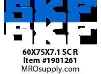 SKFSEAL 60X75X7.1 SC R HYDRAULIC/PNEUMATIC PROD