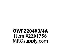 PTI OWFZ204X3/4A 2-BOLT PILOTED FLANGE BEARING-3/4 OWFZ 200 GOLD SERIES - NORMAL DUTY