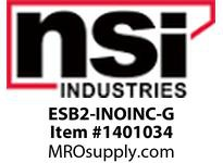 NSI ESB2-INOINC-G EMERGENCY STOP BUTTON GREEN LENS 2 CIRCUIT (2 NC)