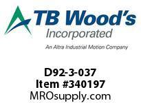 TBWOODS D92-3-037 HUB D92HT 8.492 F=9.00 THIN FL