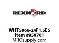 REXNORD WHT5966-24F1.5E5 WHT5966-24 F1.5 T5P WHT5966 24 INCH WIDE MATTOP CHAIN W