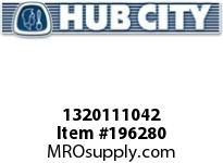 HUBCITY 1320111042 B250X1-3/16 BEARING INSERT