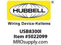 HBL_WDK USB8300I RECEP DUP HG 20A 125V 3.8A 5V USBIV