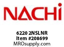 6220 2NSLNR TYPE: SEALED W/ SNAP RING BORE: 100 MILLIMETERS OUTER DIAMETER: 180 MILLIMETERS