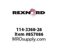 REXNORD 114-3368-26 CT LPCK325R500 U-C 7LN SP CORNER TRACK LPCK3.25 500MM CENTERL