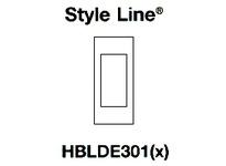 HBL-WDK HBLDE301WA FACEPLATE SNAP-IN GFCI WH