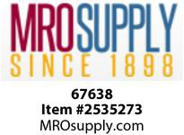 MRO 67638 2 BLACK C/S SQ STEEL PLUG