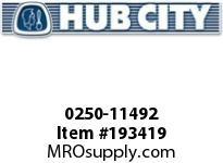 HUBCITY 0250-11492 HI4032E 28.12 56C HELICAL-INLINE DRIVE