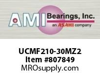 AMI UCMF210-30MZ2 1-7/8 ZINC WIDE SET SCREW STAINLESS SINGLE ROW BALL BEARING