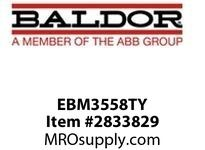 BALDOR EBM3558TY 2HP, 1755RPM, 3PH, 60HZ, 145T, 3528M, TEFC, F1, 230/460