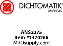 Dichtomatik ANS2375 WIPER AN STYLE POLYURETHANE 92 DURO SLOTTED HEEL WIPER INCH