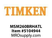 TIMKEN MSM260BRHATL Split CRB Housed Unit Assembly