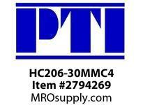 PTI HC206-30MMC4 ECC LCK COLL BRG-30MM C4 B4M-METRIC MTD BALL BRG&INSERT