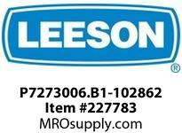 LEESON P7273006.B1-102862 GEARMOTOR 1011 IN-LB @ 29 RPM TEFC 1PH 115/230V AC