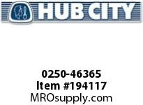 HUBCITY 0250-46365 HW2072IR 128.57 .75HP HELICAL-WORM DRIVE