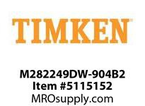 TIMKEN M282249DW-904B2 TRB Double Row Assembly 24-36 OD