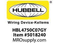 HBL_WDK HBL4750C07GY RACEWAY 7^ COVER HBL4750 SER GY