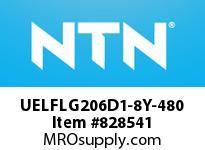 NTN UELFLG206D1-8Y-480 MOUNTED UNIT (STEEL)