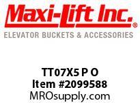 Maxi-Lift TT07X5 P O TIGER-TUFF STANDARD POLYETHYLENE ELEVATOR BUCKET