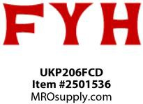 FYH UKP206FCD TAPERED BORE UNIT W/ OPEN & CLOSED CAST COVERS