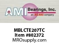 AMI MBLCTE207TC 35MM STAINLESS NAR SET SCREW TEFLON SINGLE ROW BALL BEARING