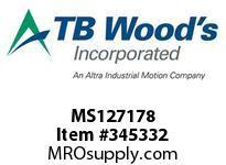 TBWOODS MS127178 MS-127X1 7/8 VAR SHEAVE