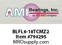 AMI BLFL6-18TCMZ2 1-1/8 ZINC NARROW SET SCREW TEFLON FLANGE SINGLE ROW BALL BEARING