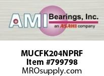 AMI MUCFK204NPRF 20MM STAINLESS SET SCREW RF NICKEL BRACKET SINGLE ROW BALL BEARING