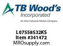 TBWOODS L07558532KS L075X5/8 5/32 KW L-JAW HUB