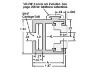 System Plast VG-370WS-40-10 VG-370WS-40-10 GUIDE RAIL
