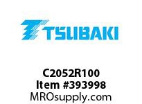 US Tsubaki C2052R100 C2052 RIVETED 100FT REEL