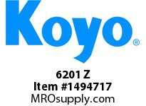 Koyo Bearing 6201 Z SINGLE ROW BALL BEARING
