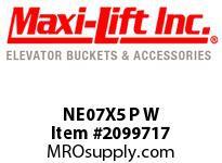 Maxi-Lift NE07X5 P W NE NO-EARS POLYETHYLENE ELEVATOR BUCKET