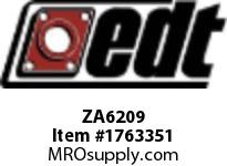EDT ZA6209 SS RADIAL BALL BEARING W/ 2 SEALS