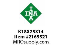 INA K18X25X14 Needle roller cage assembly