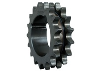D08ATB17 (1008) Metric Double Roller Chain Sprocket Taper Bushed