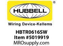 HBL_WDK HBTR0616SW WBPRFRM RADI 90 6Hx16W PREGALVSTLWLL