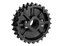 614-99-18 NS820-27T Thermoplastic Split Sprocket With Keyway And Setscrew With Guide Rings TEETH: 27 BORE: 1-5/8 Inch