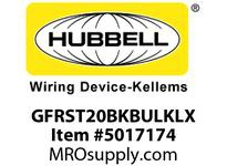HBL_WDK GFRST20BKBULKLX 20A COM ST LX GFR BLK BULK REMOVE 4 EARS