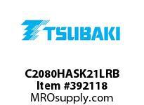 US Tsubaki C2080HASK21LRB C2080HAS RIV 1L/K-2
