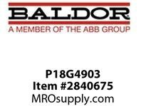 BALDOR P18G4903 5HP 1745RPM 3PH 60HZ 184T  TEFC FOOT