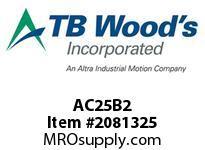 TBWOODS AC25B2 HUB AC25-2.00 DIA NO KW CL B