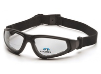 Pyramex GB4010STR15 Black Frame/Clear Anti-Fog + 1.5 Lens