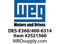 WEG DES-E360/400-6314 DE ENDSHIELD TEFC PREM EFF 631 Integrals