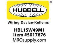 HBL_WDK HBL15W49M1 CONN W/TIGHT 6-15R 15A 250V IN BOX