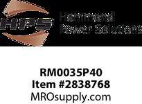 HPS RM0035P40 IREC 35A 0.400MH 60HZ CC Reactors