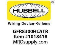 HBL-WDK GFR8300HLATR 20A 125V COM HG TAMPER GFCI LT ALMOND