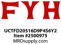 FYH UCTFD20516D9P4S6Y2 1in 3B FL DUCTILE W/ SQUARE BOLT HOLES *RE-LUBE*